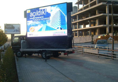 China High Brightness Trailer LED Display / On Board Mobile Advertising Screen supplier