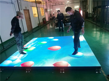 Full Color Dance Floor LED Screen Interactive Led Display Customized Size