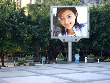 P10 Outdoor Full Color LED Display For Commercial Street 1/4 Scan  1/2 Scan