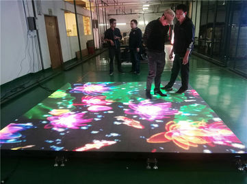 High Strength Dance Floor LED Screen / Interactive Led Floor Screen Anti - Scratch