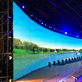 TV / Broadcasting Center P4  Soft Led Screen , Curved Led Video Wall 1000cd/㎡
