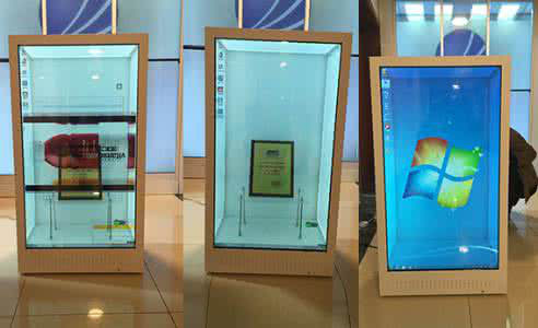 High Efficiency Transparent Glass LED Display With Simple Steel Frame Structure